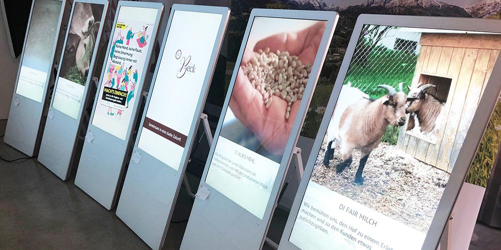Digitaler Posterständer