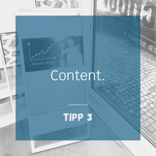 Tipp 3 - Content
