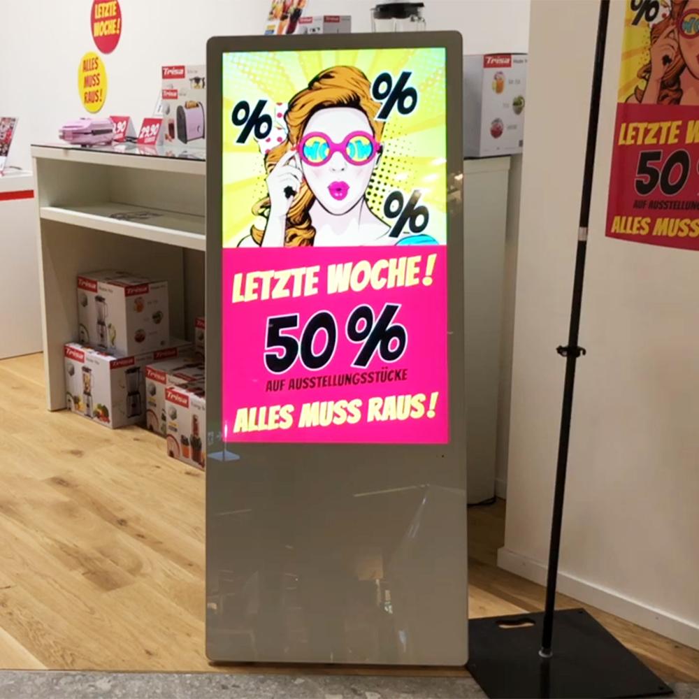 Digitaler Kundenstopper von e-display
